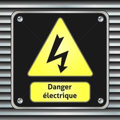 Panneau danger électrique.