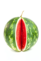 Notched vertical striped watermelon