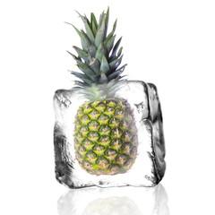 Deurstickers In het ijs Frische Ananas