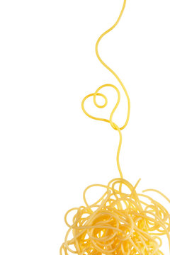 Spaghetti heart shape