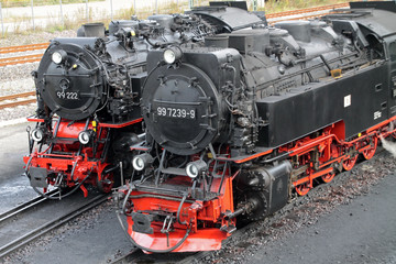 Wall Mural - Dampflokomotive der Harzer Schmalspurbahnen