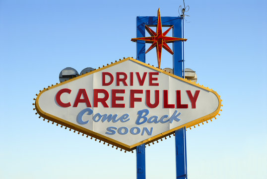 Back of the Famous Welcome to Las Vegas Sign