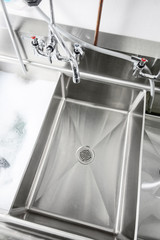 Commercial sink and tap