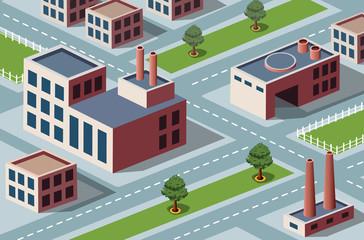 Foto op Plexiglas Op straat industrial district