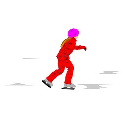 Изображение девушки которая катается  на коньках