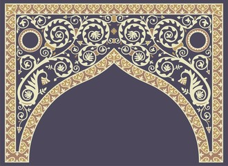 рисунок виноградной лозы над аркой