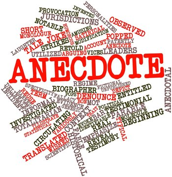 Word cloud for Anecdote