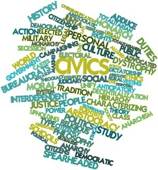 Word cloud for Civics