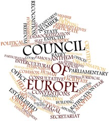 Word cloud for Council of Europe