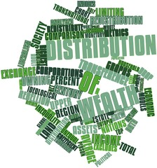 Word cloud for Distribution of wealth