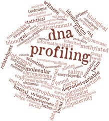 Word cloud for DNA profiling