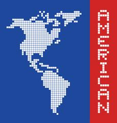 Fotobehang Pixel American pixel art