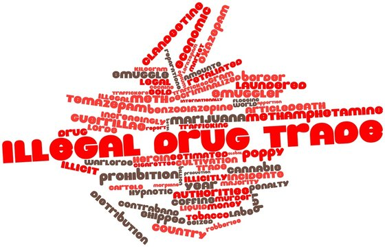 Word cloud for Illegal drug trade