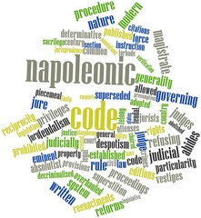Word cloud for Napoleonic Code