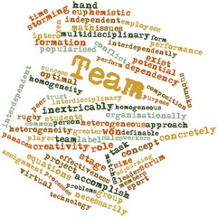 Word cloud for Team