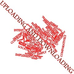 Word cloud for Uploading and downloading