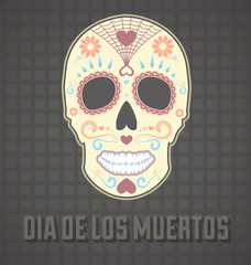 Day of the Dead Card and Wallpaper Vector
