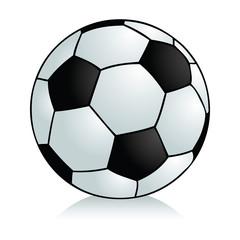 Semi-realistic cartoon football on white background.