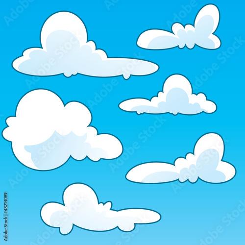 Cartoon clouds template. Vector cloud stock image