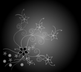 Trauer Karte Hintergrund Blumen