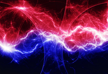 Red and blue abstract lighting
