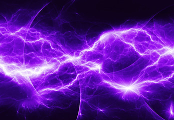 purple abstract lightning