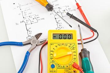 Schaltplan Messgerät Werkzeug