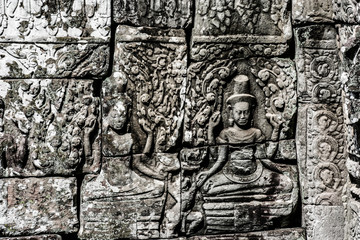 Temples in  Angkor, near Siem Reap, Cambodia