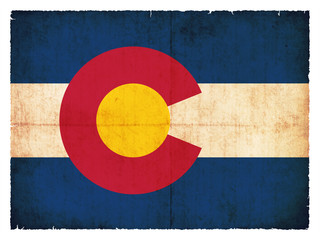 Grunge-Flagge Colorado (USA)