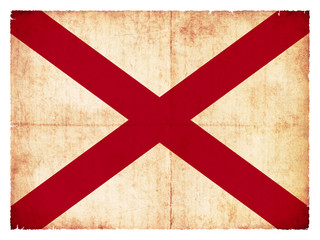 Grunge-Flagge Alabama (USA)