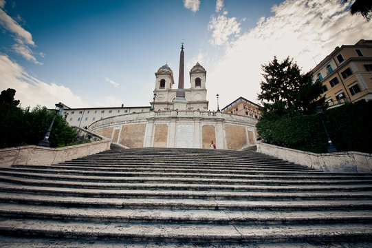 View of the Spanish Steps in Rome