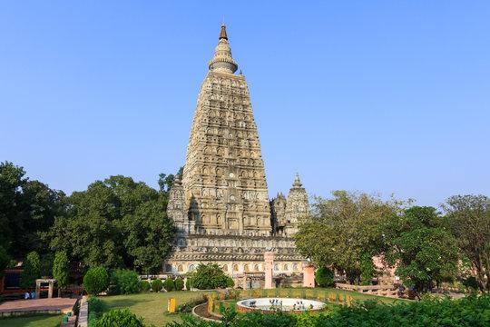 Mahabodhi temple, bodh gaya, India. The site where Gautam Buddha