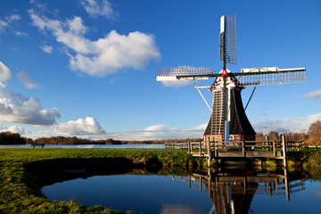 Wall Mural - charming Dutch windmill