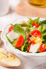 fresh salad with croutons
