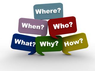 Nachforschung - English Question Words