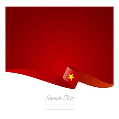 Abstract color background Vietnamese flag vector
