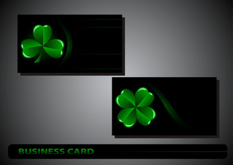 business card St. Patrick's Day
