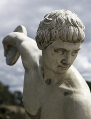 Classic white statue of the Greek