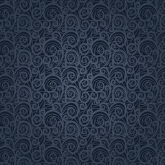 Vintage floral pattern on a gray background