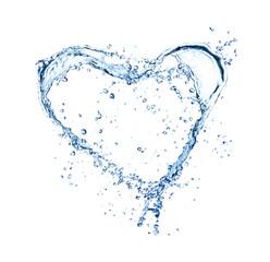 Heart symbol made of liquid splashes
