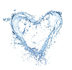 Heart symbol made of liquid splashes