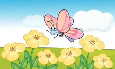 Zelfklevend Fotobehang Vlinders A smiling butterfly