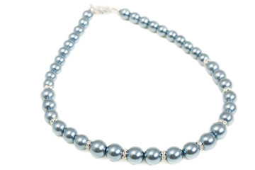 Beads from pearls, isolated on a white background