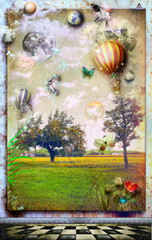 Garden Poster Imagination Anywhere out of the world.Series