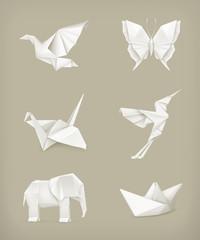 Origami set, white