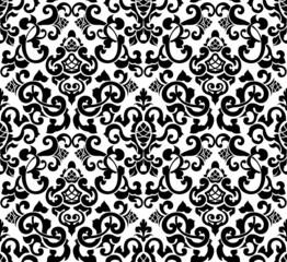 Black seamless pattern, silhouette