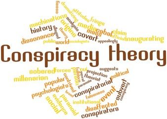 Word cloud for Conspiracy theory