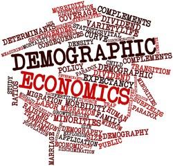 Word cloud for Demographic economics