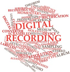 Word cloud for Digital recording