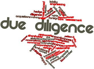 Word cloud for Due diligence